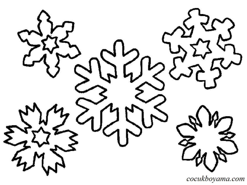 Kar Tanesi 37 ücretsiz Boyama Resimleri
