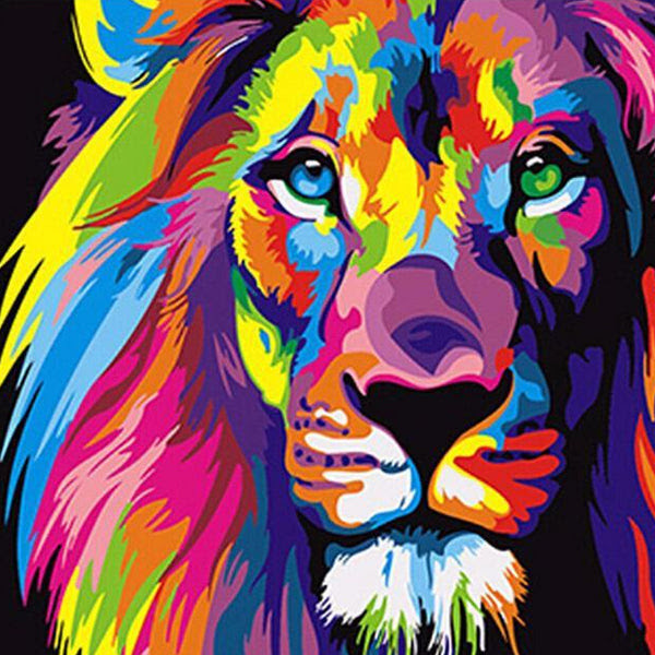 Diy Painting By Numbers Colorful Lion 16 Quot X20 Quot 40x50cm Max Novelty