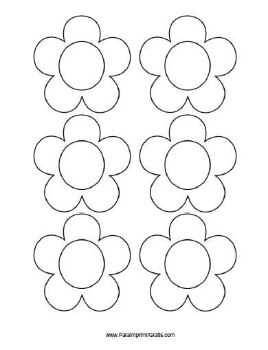 Moldes De Flores Para Imprimir Gratis Paraimprimirgratiscom