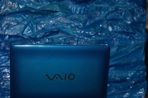 the brilliant blue of my Sony Vaio laptop was the inspiration for the color scheme of Cerulean Rhapsody