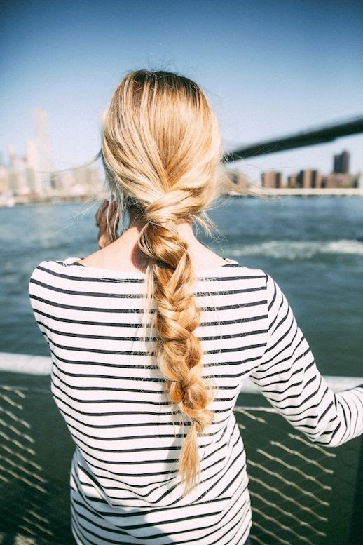 1 Le Fashion Blog 21 Braid Ideas For Long Hair Single Chunky Braided Ponytail Hairstyle Via Barefoot Blonde