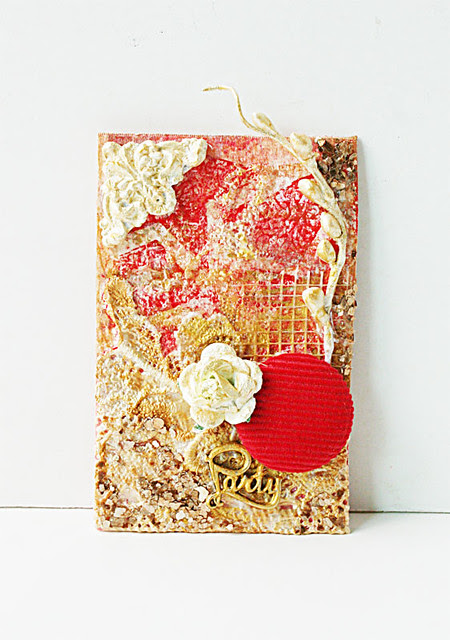 Party mixed media tag