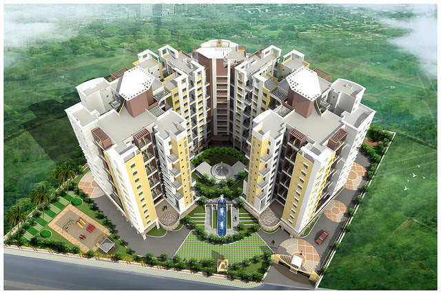 Bird Eye View of DSK Gandhakosh Baner Pune