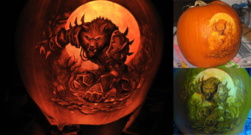 """Warcraft Pumpkin by qw3323    """"Another pumpkin carving season passes. For the first time I entered a contest. The Blizzard pumpkin contest is impossible… I didn't even place in the top five. It's going to take a while to recover from this one… I know it isn't perfect, but I was hopeful. I guess I'll have to step it up a lot for next year."""""""
