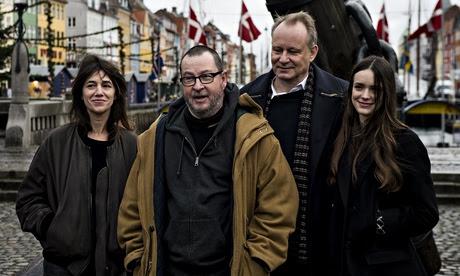Charlotte Gainsbourg, Lars von Trier, Stellan Skarsgård and Stacy Martin