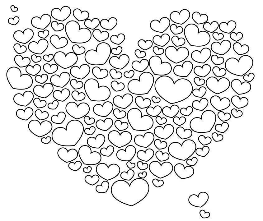 111 Dessins De Coloriage Coeur à Imprimer Sur Laguerchecom Page 11