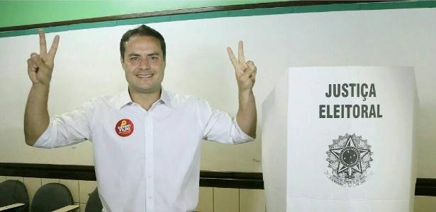 Renan Filho (PMDB) durante votação em Alagoas