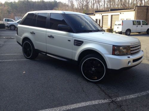 Find Used 2009 Land Rover Range Rover Sport Supercharged Matte White Pearl Wrap Tan In