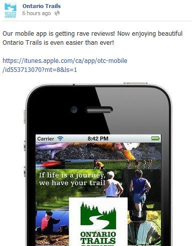 ontario trails app