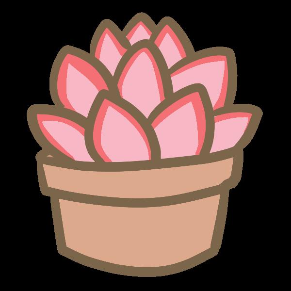 多肉植物8のイラスト かわいいフリー素材が無料のイラストレイン
