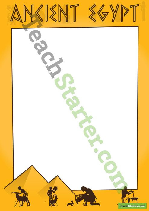 Ancient Egypt Page Border | Teaching Resources - Teach Starter ...
