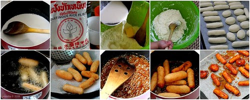 The Making : [Indonesian Food] Gemblong - Deep Fried Sticky Rice coated with Caramel