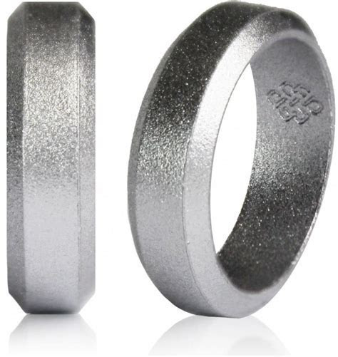 Silver Silicone Wedding Ring By Knot Theory   Safe