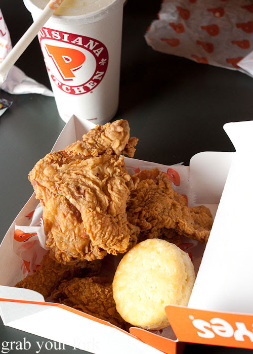 fried chicken Popeye's Biscuits fast food Louis Armstrong Airport Metairie New Orleans Louisiana