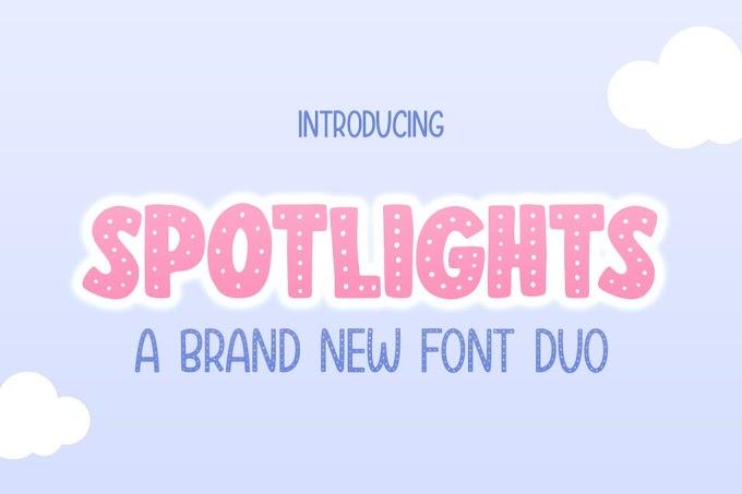 Spotlights Duo Font