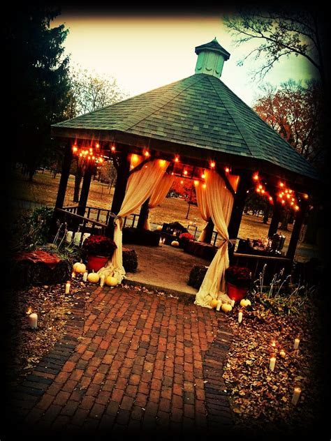 Outdoor Fall Wedding. You could do a portable gazebo