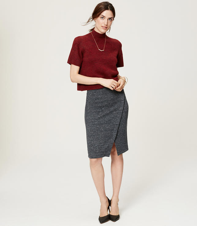 Primary Image of Curvy Fit Wrap Pencil Skirt
