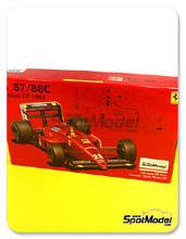 Kit 1/20 Fujimi - Ferrari F1 87/88c Fiat Agip - Nº 27, 28 - Michele Alboreto, Gerhard Berger - Gran Premio de Italia 1988 - maqueta de plástico