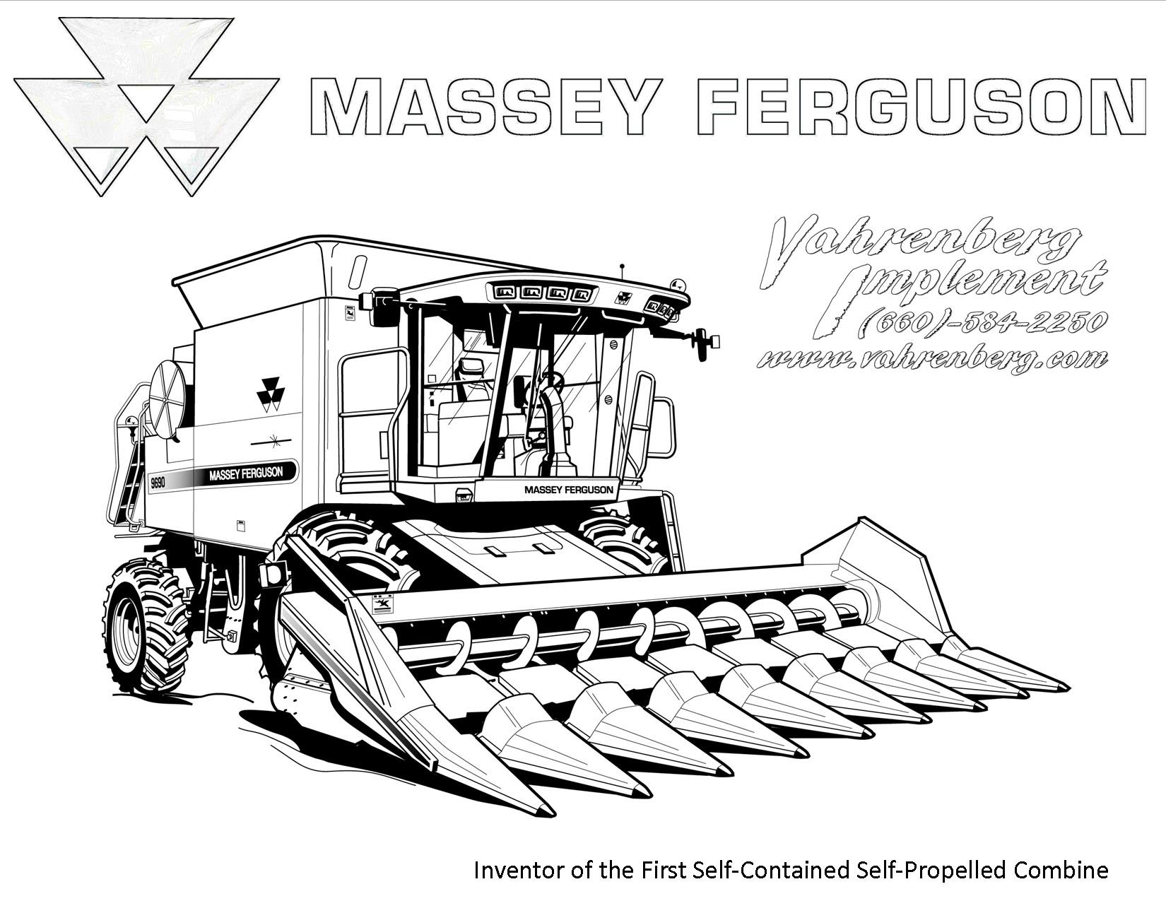 Rasane Sepoh  Massey Ferguson Kleurplaat