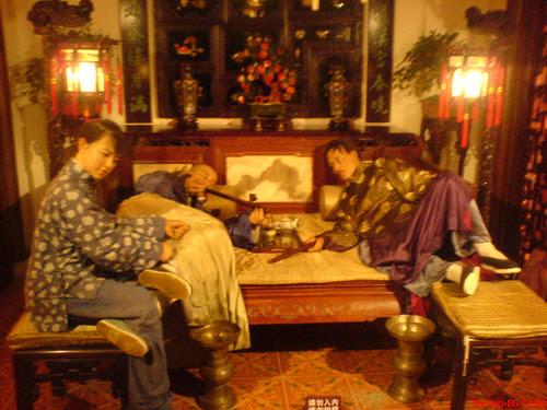 鸦片馆 Opium Den in old Shanghai