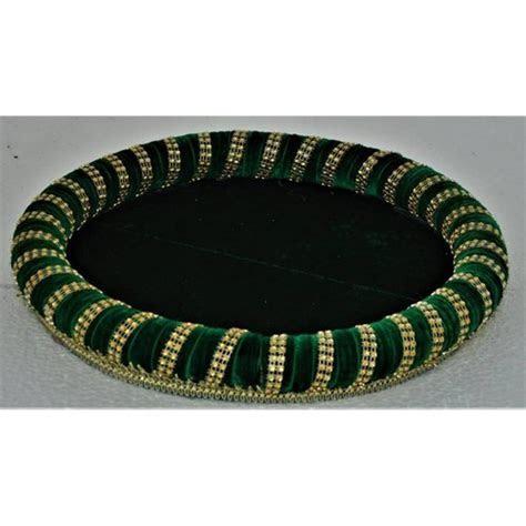 Round Velvet Wedding Trays, Engagement Trays   Sai Kalyaan