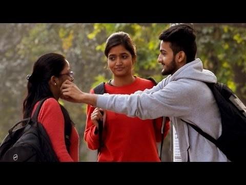 Pulling Indian Girls Cheek Prank   AVRprankTV   Pranks In India