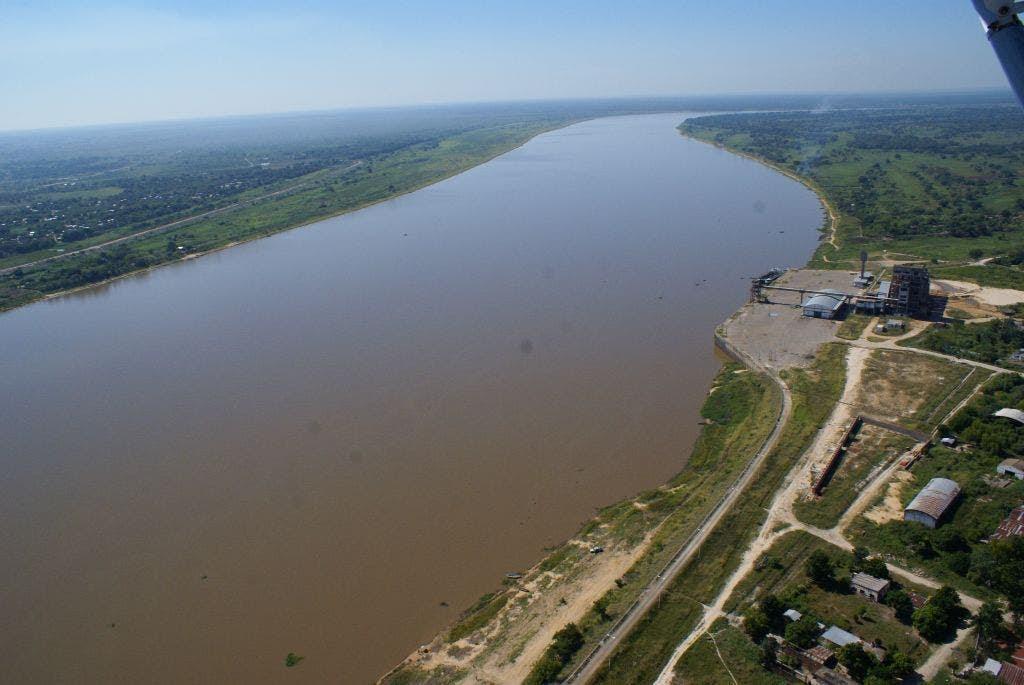 Traza del Río Paraguay donde comenzaría el acueducto. Foto: Gentileza Justo Urbieta