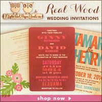 Real Wood Wedding Invitations by Night Owl Paper Goods