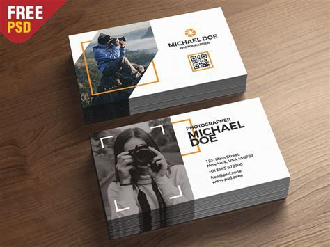 Photography Business Cards Template PSD by PSD Zone