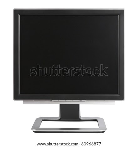 blank screen black. stock photo : Computer Monitor with lank black screen,isolated on white