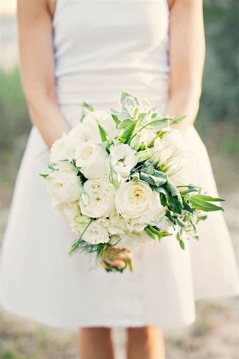 The bridal bouquet will be a clutch of cream hydrangeas