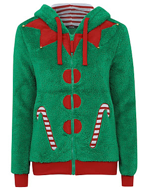 Novelty Christmas Elf Hoody