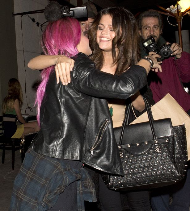 Selena Gomez and Demi Lovato shared a dinner together tonight at 'Craigs' Restaurant in West Hollywood, CA