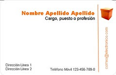 Plantilla - Tarjeta de visita - Minimalista Caja Naranja