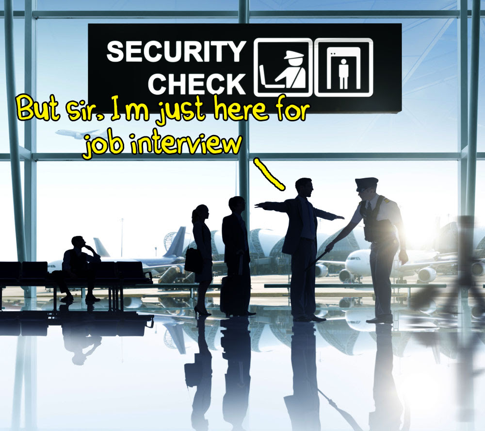 job interview security check