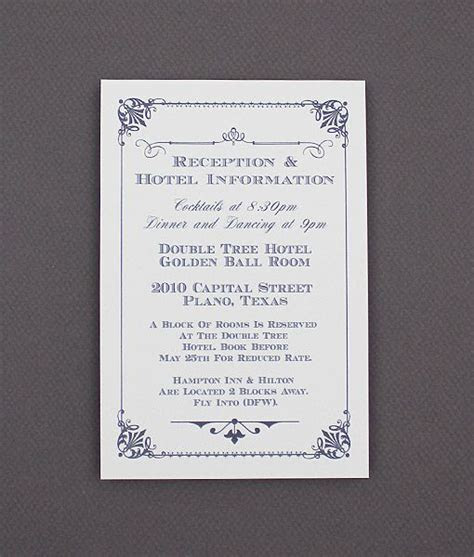 DIY Ornate Vintage Wedding Enclosure Card from #