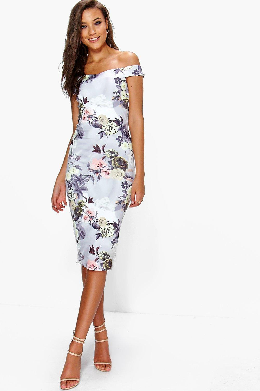 Zara floral bodycon dress