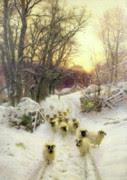 Χριστούγεννα Πίνακες - Ο ήλιος είχε κλείσει η μέρα χειμώνες από τον Joseph Farquharson