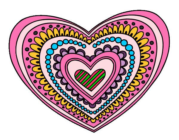 Dibujo De Corazones De Colores Pintado Por Annsita En Dibujosnet