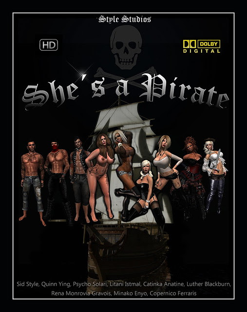 """movie poster """" she´s a pirate"""""""