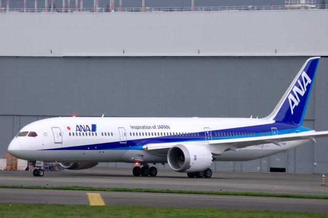 The first 787-9 for All Nippon Airways seen at Boeing Field while conducting tests for Boeing - Photo: Mal Muir | AirlineReporter.com