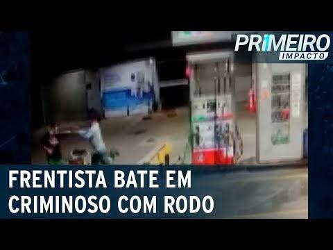 Vídeo: frentista bate em criminoso durante assalto no ES
