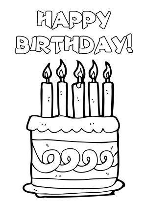 Black And White Birthday Card Printable Card Design Template