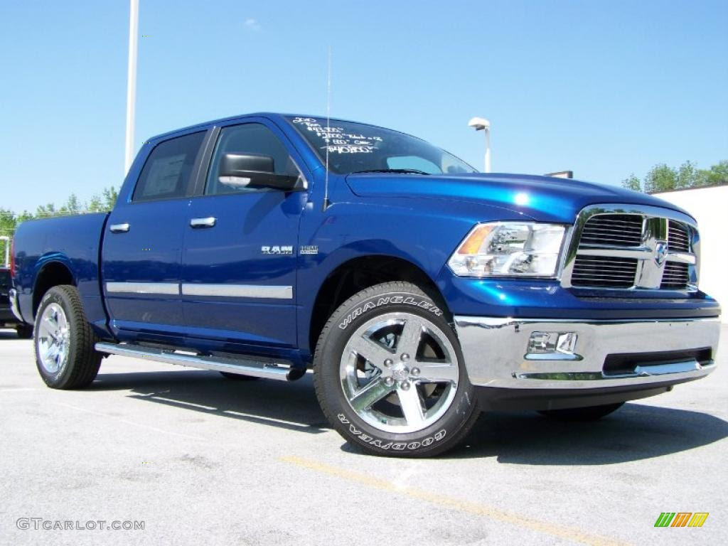 2010 Deep Water Blue Pearl Dodge Ram 1500 Big Horn Crew Cab 4x4 30616032 Gtcarlot Com Car Color Galleries