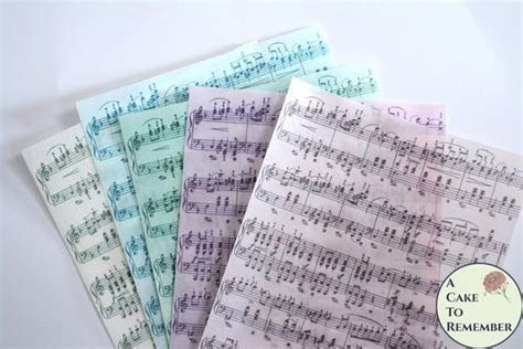 Music notes custom color edible wafer paper for decorating