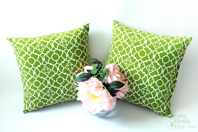 How to Recover Outdoor Pillows and a Mini Patio Makeover