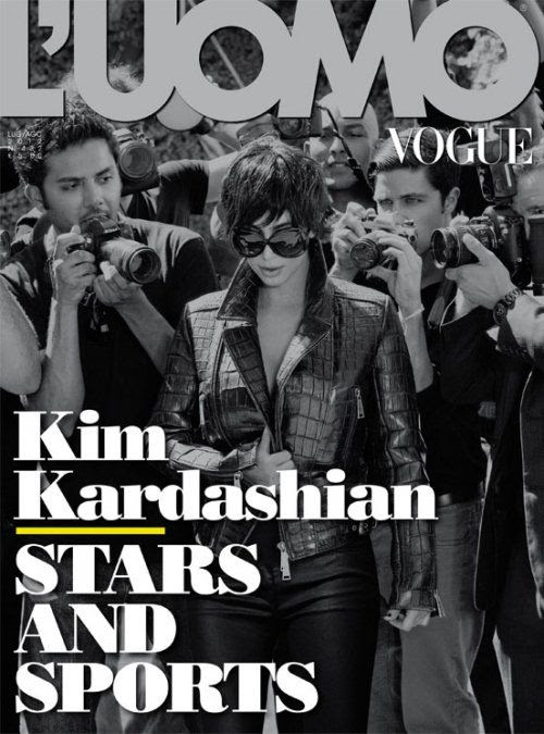 L'Uomo Vogue - July/August 2012, Kim Kardashian