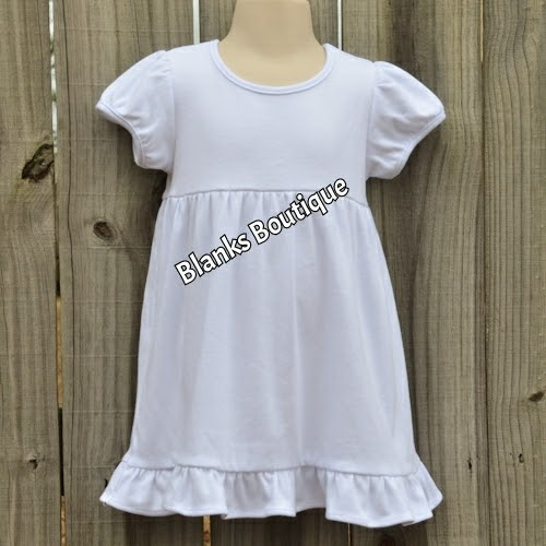 Blank Dresses For Embroidery White Gold