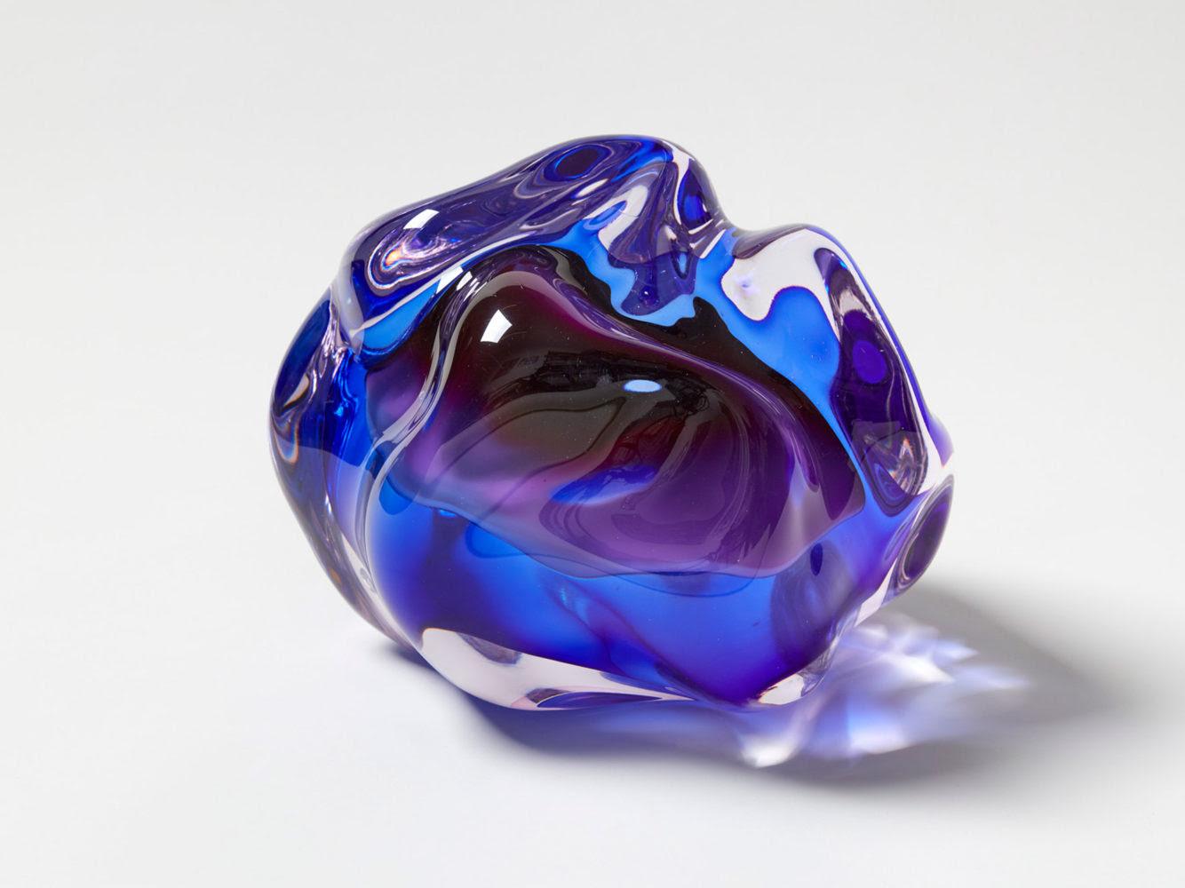 Fluid Rocks Artist Flavie Audi Forms Gem Like Sculptures From Glass
