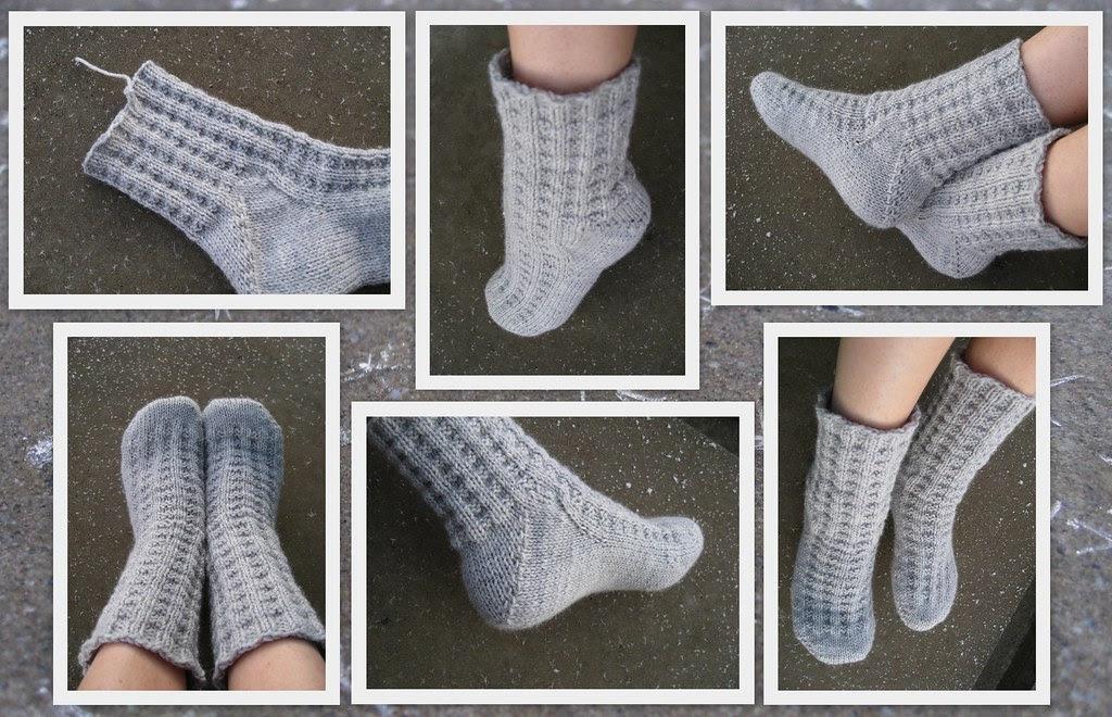 Blueberrywaffel- sokker